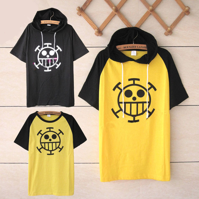 e90e436fc One piece Trafalgar Law T shirt cosplay costumes Unisex tops cartoon short  sleeved Summer tees