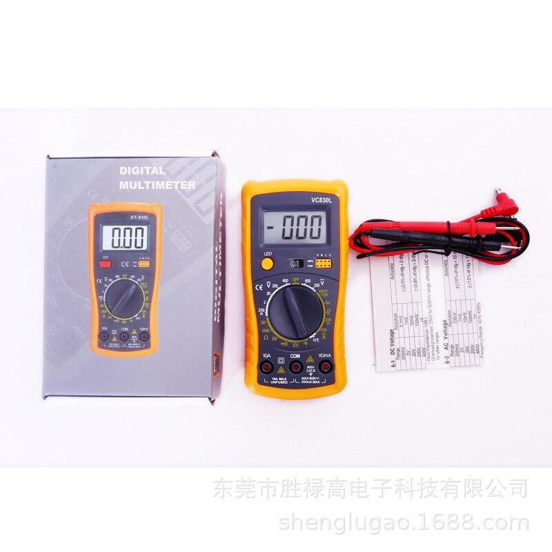 1 satz Digital multimeter 1999 zählt Hintergrundbeleuchtung Amperemeter Voltmeter Ohm Tragbare Meter spannung meter RICHMETERS