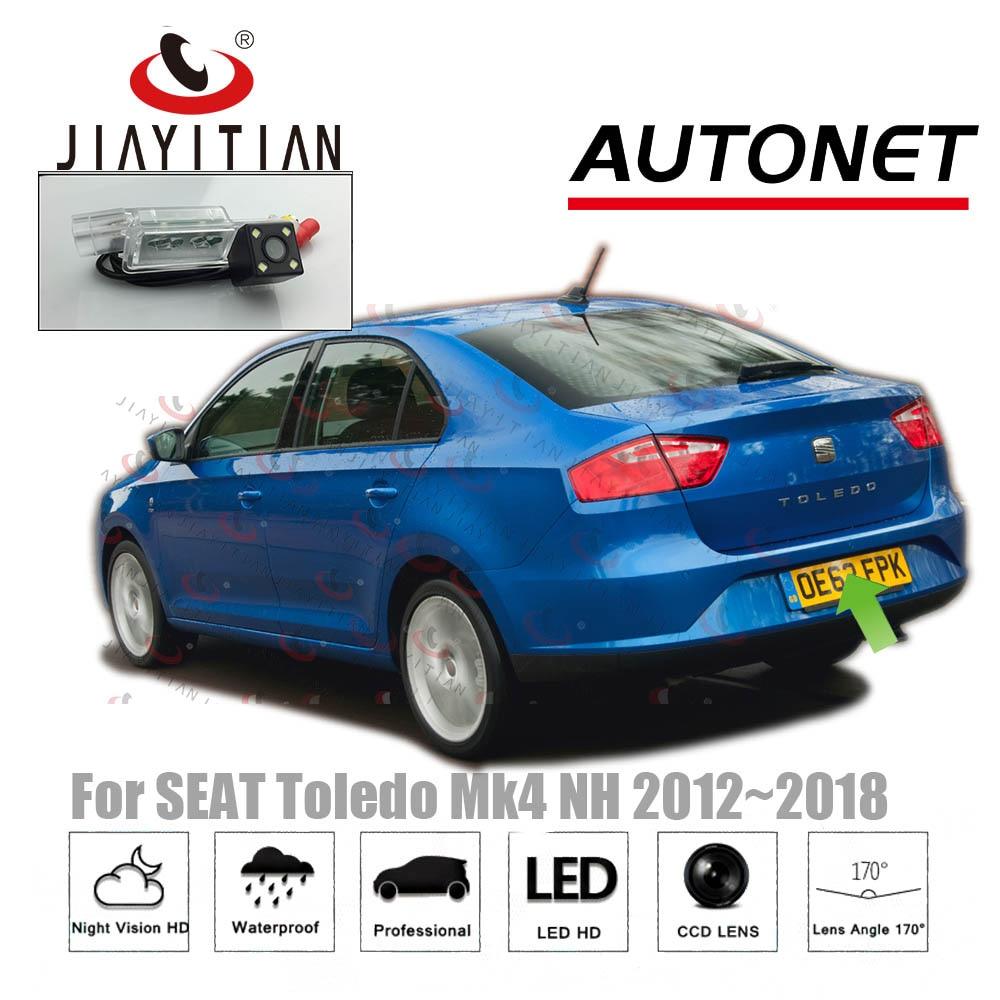 JIAYITIAN Rear View Camera For SEAT Toledo Mk4 (NH) 2011~2018 CCD Night Vision Backup Camera License Plate Camera Reverse Camera