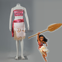 Athemis new Moana Cosplay Costumes velours hula skirt hot selling in stock