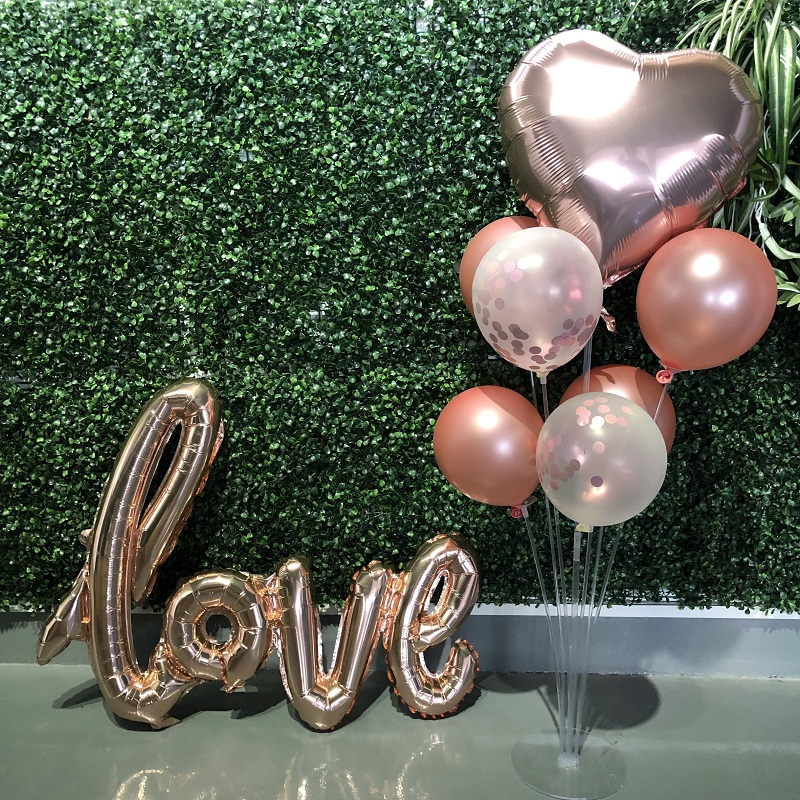 Rose Gold Wedding Birthday Party Balloons Happy Birthday Letter Foil Balloon Baby Shower Anniversary Event Party Decor Supplies 6