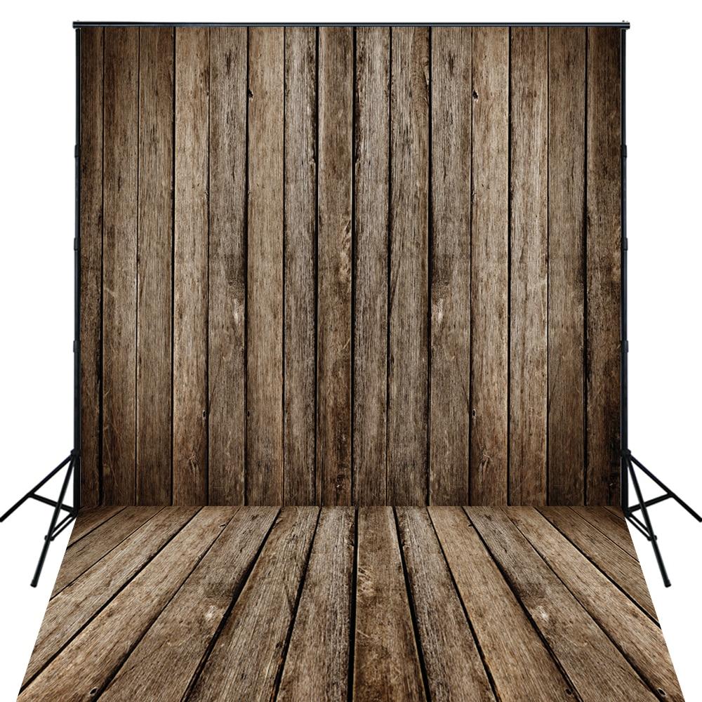 4X6ft Art Fabric Photography Rustic Wood Floor Backdrop