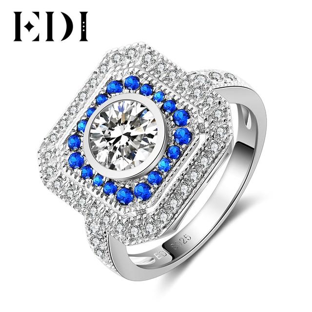 Edi Halo 6mm Rundschnitt Moissanite Diamant Ring Fur Frauen 14 Karat