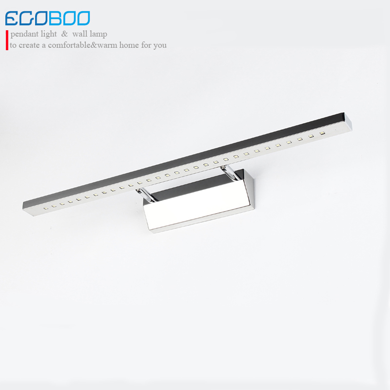 Luminaire Sconce [ecobrt] 5550# 9w 68cm Long Square Stainless Steel Tube Surface Mount Led Wall Lamps Bathroom Mirror Light 220v 8x sliver copper alloy french horn mouthpiece for conn king french horn page 7