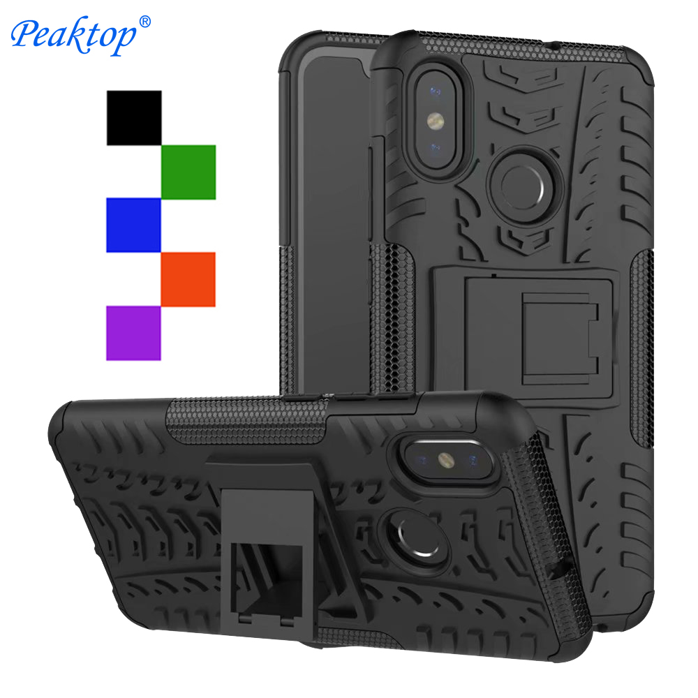 Shockproof Armor Case For Xiaomi Mi A2 A1 7 5X 6X 8 Pocophone F1 Redmi S2 Y2 Note 6 6A 5 5A 4 4X 4A 3 3S Pro Plus Case Cover(China)