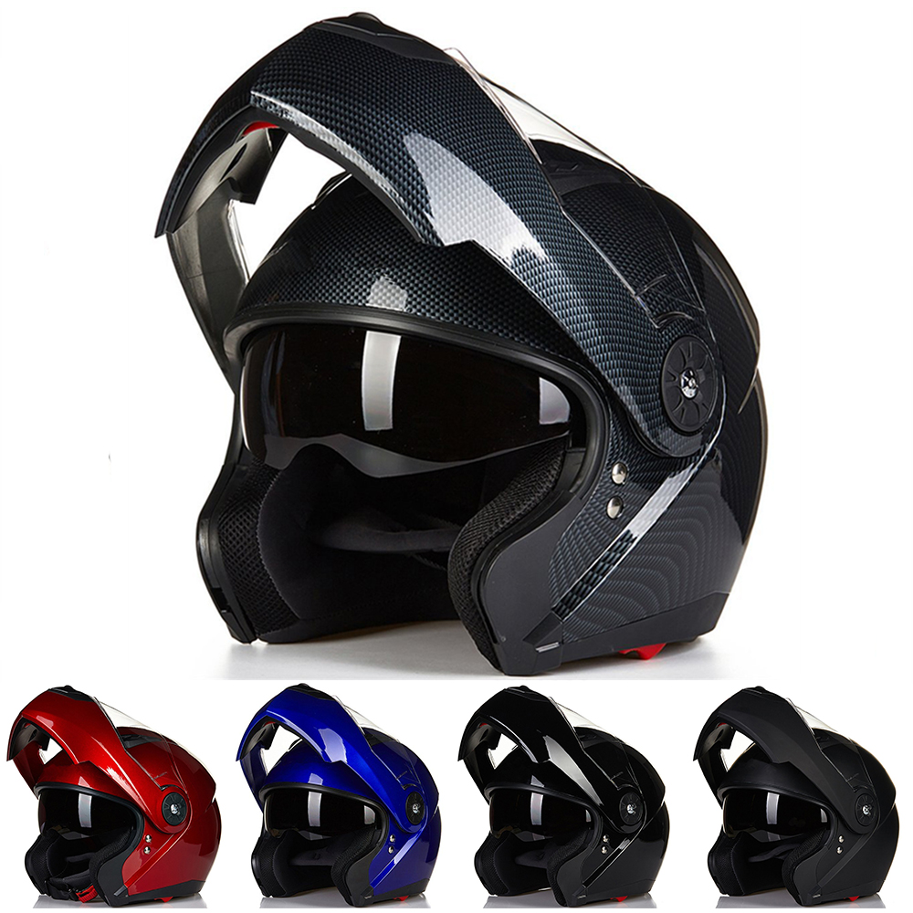 ILM Motorcycle Helmets Modular Flip Up Double Visors Helmet Full Face Casque Moto Racing Motocross DOT Approved Helmet Carbon 2017 new knight protection gxt flip up motorcycle helmet g902 undrape face motorbike helmets made of abs and anti fogging lens