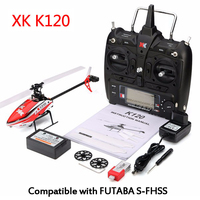 RCtown SYMA XK K120 Shuttle 6CH Brushless 3D 6G System RC Helicopter RTF/BNF with battery RC Control Drone RC Toys