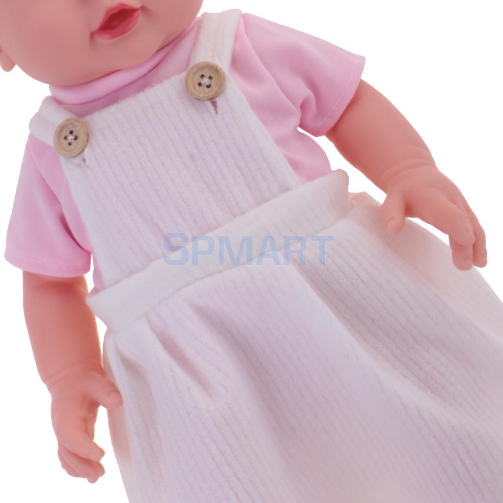 Soft Silicone Vinyl Dolls 41cm Reborn Baby Doll Handmade Newborn Doll Lifelike Baby Toy with Clothes Hat Kids Children Xmas Gift