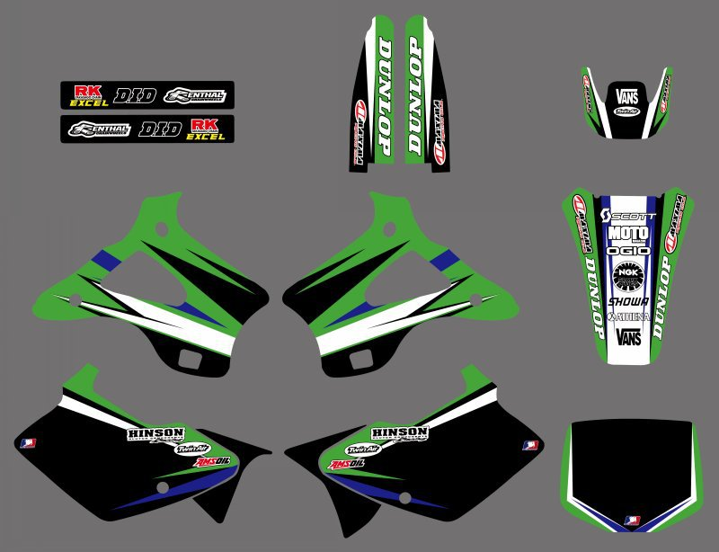 Motorcycle Graphics Decals Stickers For Kawasaki KX125 KX250 1994 1995 1996 1997 1998 KX 125 250 Motocross Dirt Bike
