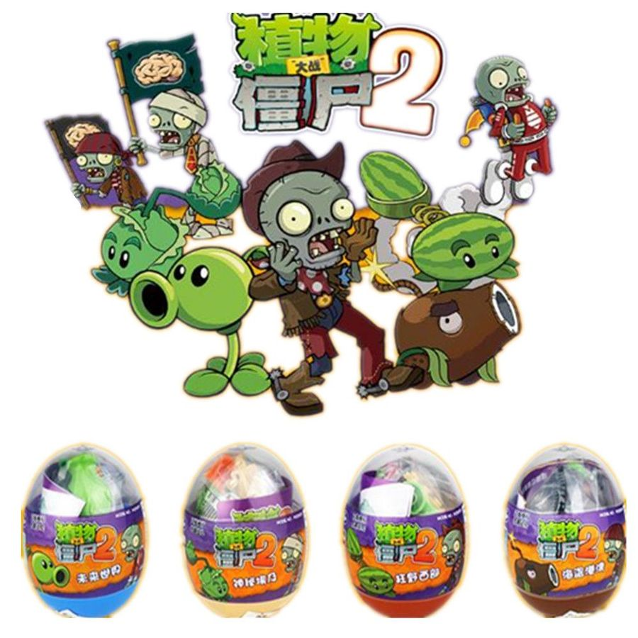 Plants Vs. Zombies Figures Action Toys Pvz Building Blocks Set CompatibleLegoingly Launch Shooting Toy CAPSULE Egg For Children