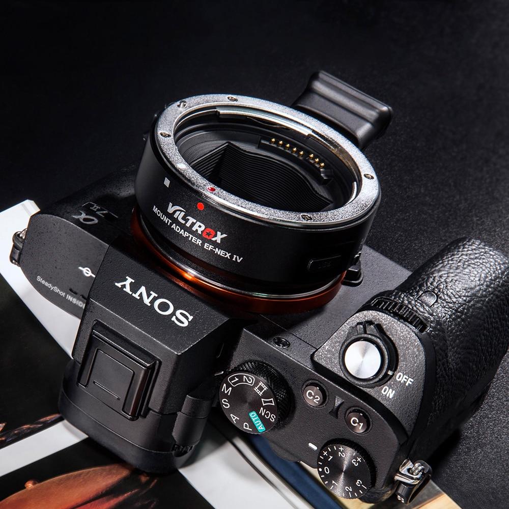 محول عدسة التركيز التلقائي من Viltrox EF-NEX IV لعدسة Canon EOS EF إلى إطار سوني E NEX Full Frame A7 A7R A7III A6500 A6300 A6000 NEX-7