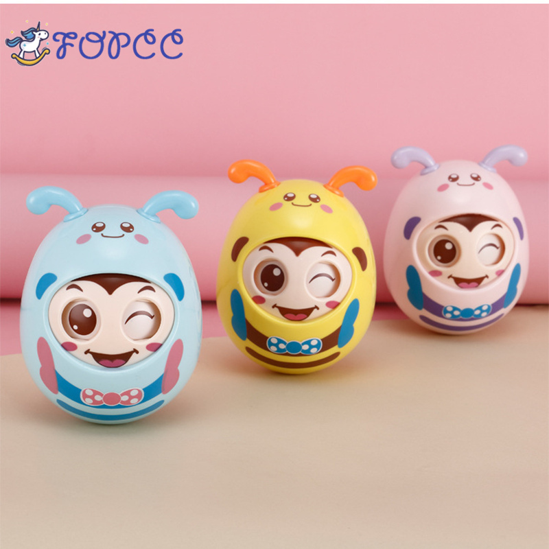 Lovely newborn Baby education tumbler toy nods and blinks baby gum can bite 3-6-9-12 months puzzle toy boy girl baby puzzle toy