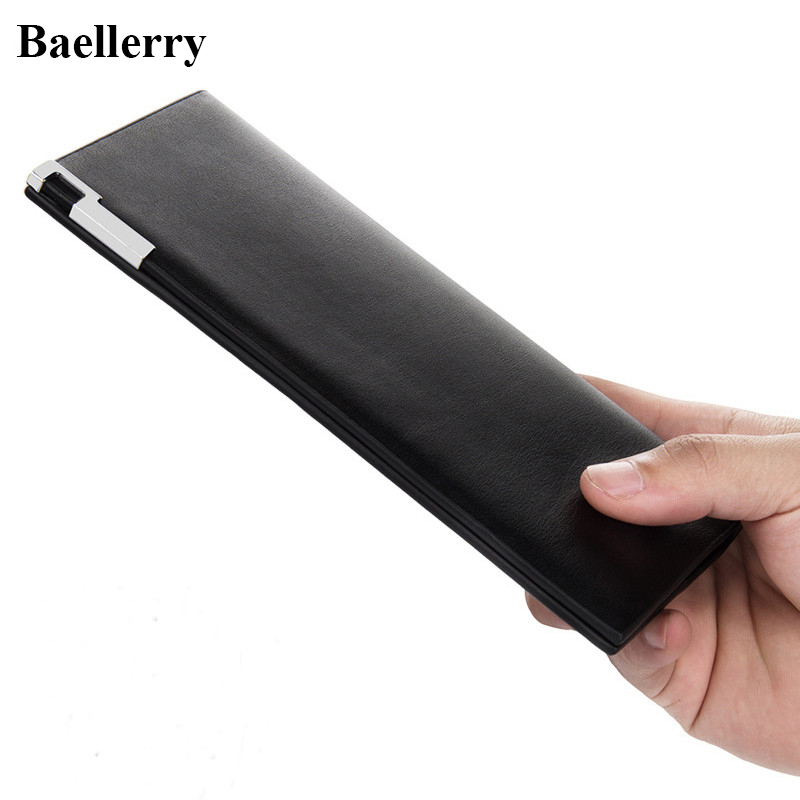 Hot Sale Leather Wallets Men High Quality Casual Slim Long Purses Male Money Bags Credit Card Holders Famous Brand Clutch Wallet baellerry brand pu leather wallets men purses slim new designer solid vintage small wallets male money bags credit card holders