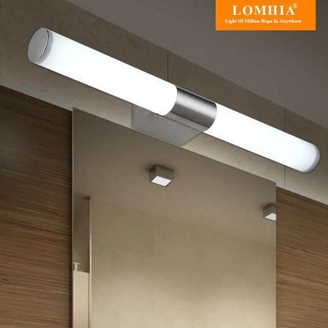 Hedendaagse rvs lichten badkamer led spiegel licht vanity ...
