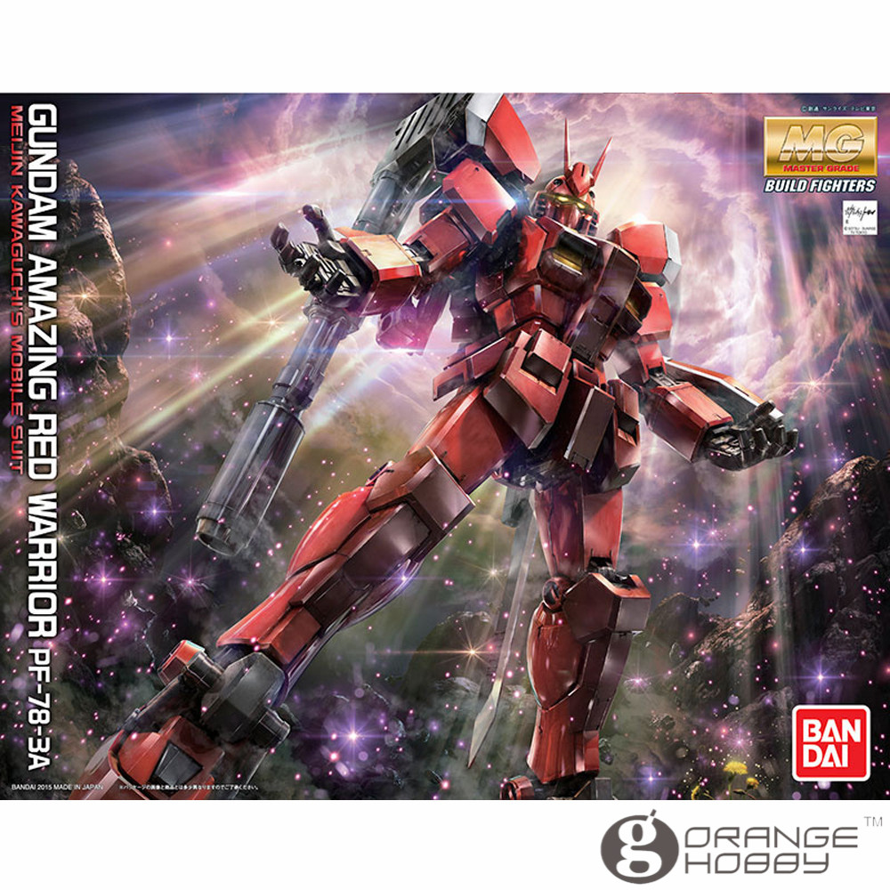 OHS Bandai MG 189 1/100 PF-78-3A Gundam Amazing Red Warrior Mobile Suit Assembly Model Kits oh ohs bandai sw 1 6 yoda assembly model kits