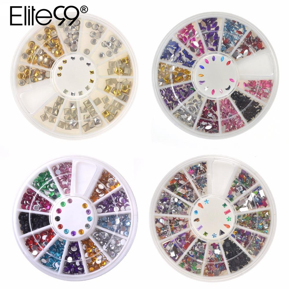 Elite99 Nail Rhinestones 2mm Acrylic Nail Art Rhinestones Decoration For UV Gel Phone Laptop DIY Nail Tools biutee 12 colors nail rhinestones 4mm acrylic nail art rhinestones decoration for uv gel phone laptop diy nail tools