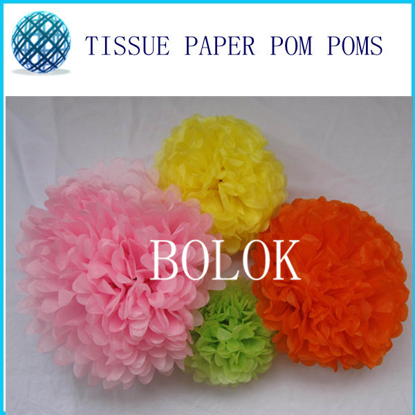 Set of 30 ,different sizes 4 8 12Party Tissue Pom Poms Decor for Birthdays parties, minnie mouse party