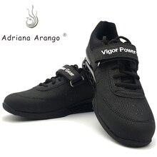 Adriana 2019 Высококачественная профессиональная обувь для тяжелой атлетики тренировочная кожаная нескользящая обувь для тяжелой атлетики