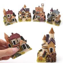 Миниатюрный дом Сказочный Сад Микро пейзаж украшение дома смолы Ремесло Декор