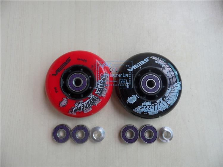 [Hjul + Bøsning + Bearing] 8Pcs SEBA Street Invaders FSK Slalom Inlinescoating 84A, ILQ-9 7 Perler ILQ-11 7 Perler 608 Bearing