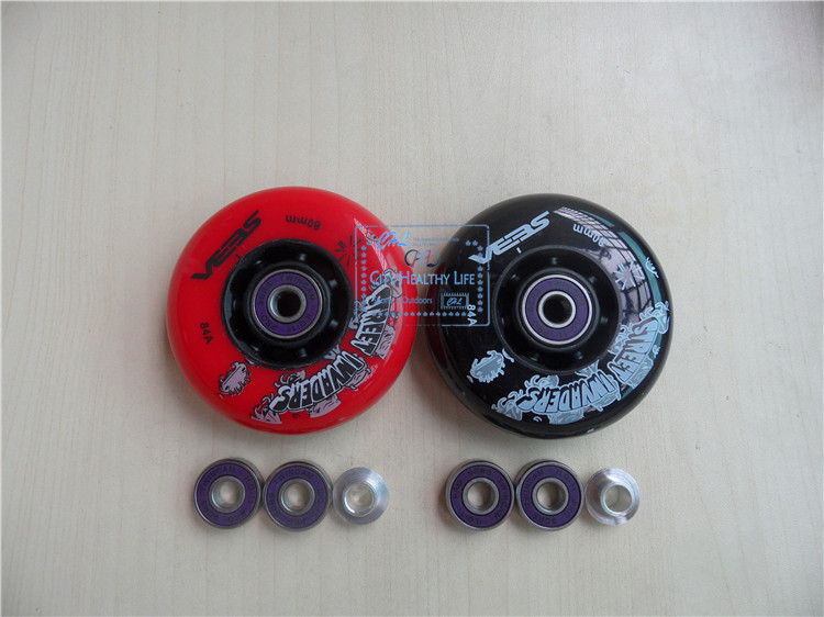 [Wheel + Bushing + Bearing] 8Pcs SEBA Street Invaders FSK Slalom Inline Skating 84A, ILQ 9 7 Beads ILQ 11 7 Beads 608 Bearing-in Scooter Parts & Accessories from Sports & Entertainment    1