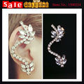 Imitation Diamond Punk Club Party Crescent Shape Rhinestone Rock Statement Crytsal Beads Cuff Clip Earrings for Women Wholesale