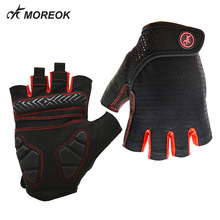цена на MOREOK Summer Shockproof Half Finger Cycling Gloves Gel Pad BMX Gloves MTB Road Mountain Bicycle Bike Gloves for Men Women
