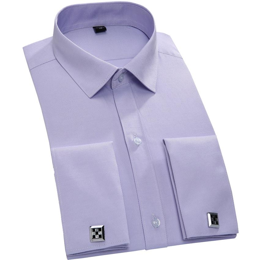 Twill tuxedo french cuff shirt 2016 100 cotton men for 100 cotton dress shirt