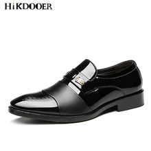 Fashion Men Dress Shoes Patent Leather Oxford Casual Business Formal Brand Classical Wedding