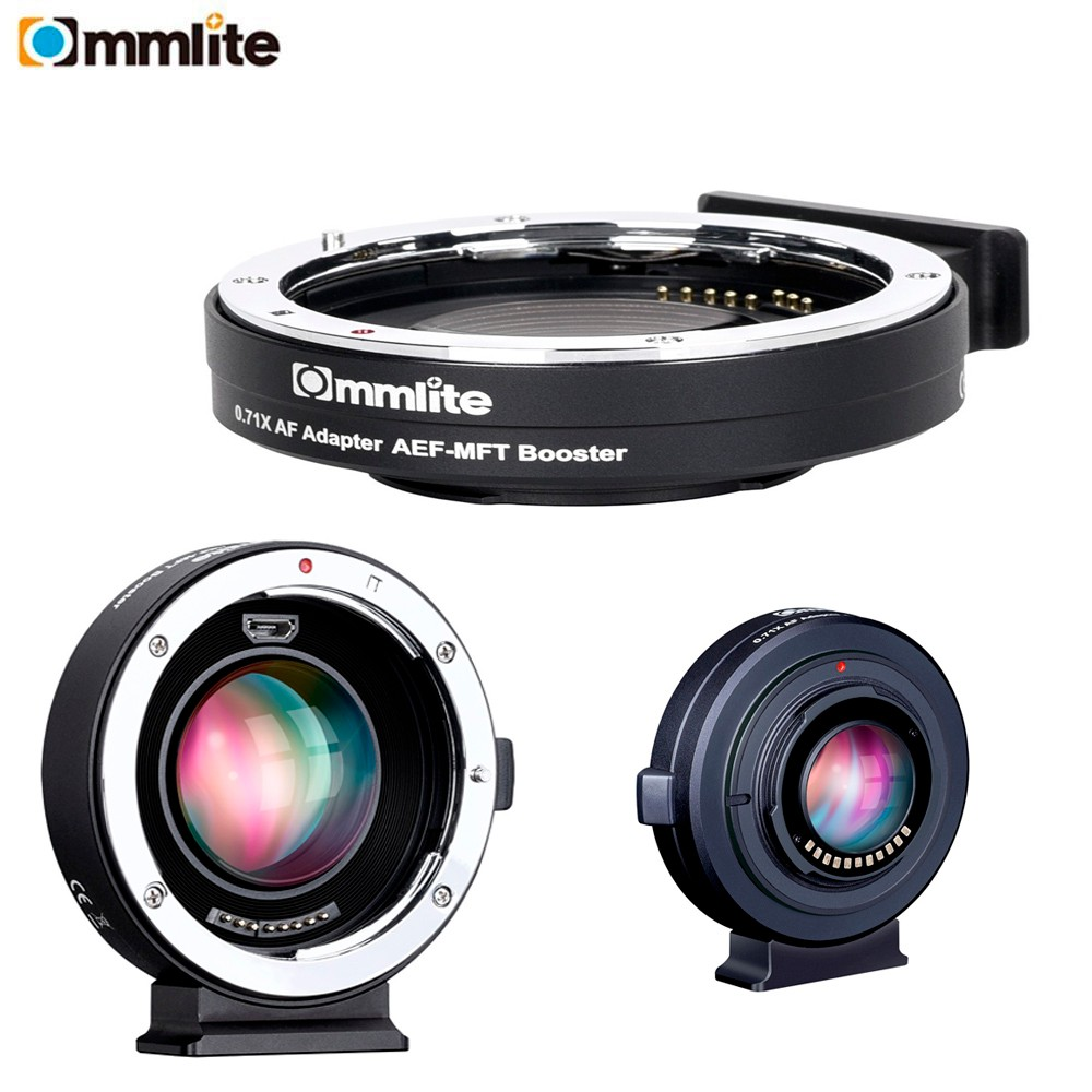 цена на Commlite CM-AEF-MFT Booster 0.71x Focal Reducer Booster Af Lens Mount Adapter For Ef Lens To M4/3 Camera