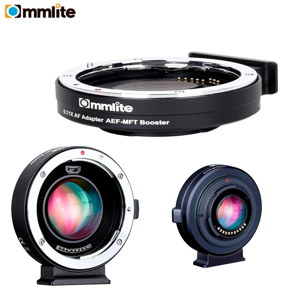 все цены на Commlite CM-AEF-MFT Booster 0.71x Focal Reducer Booster Af Lens Mount Adapter For Ef Lens To M4/3 Camera онлайн