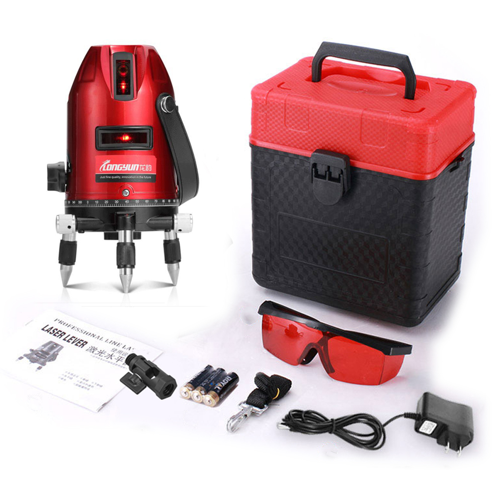 360 Electronic Self Leveling Rotary Red Medidor Laser Level Digital 5 Line Construction Building Nivel A Laser Plumb Level