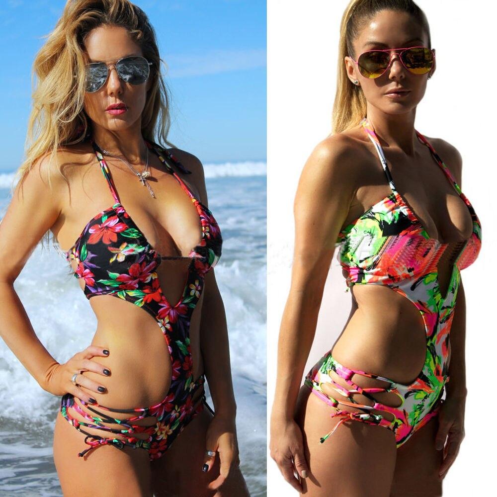 Bikini Wanita Seksi Set Perban Push-Up Padded Swimwear Swimsuit - Pakaian olahraga dan aksesori - Foto 2