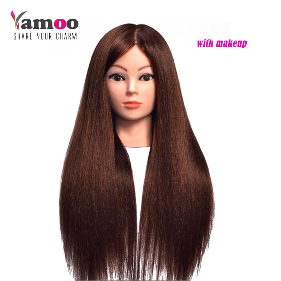 60% vraie tête de formation de cheveux humains pour les coiffeurs tête de Mannequin avec des Mannequins de cheveux factices de cheveux à vendre tête de Mannequin avec