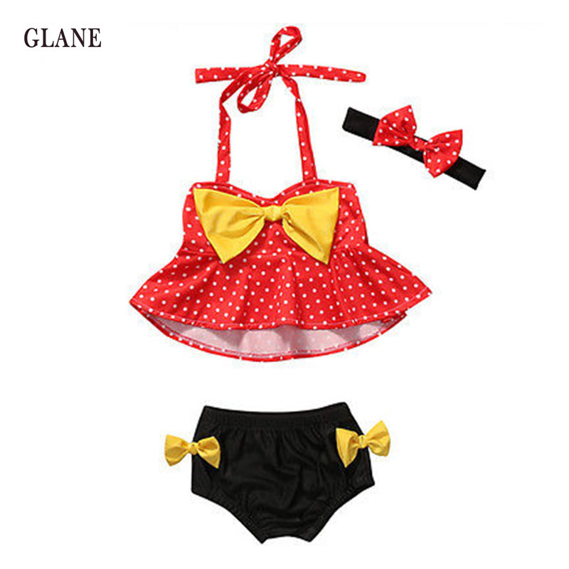 1-4years Children Swimwear Girls Swimwear Baby Kids Biquini Infantil Swimsuit Bikini Girl 2017 New Summer Bathing Suit