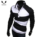 Mens Polo Shirt Brands 2016 Male Long Sleeve Fashion Casual Slim Hit The Color Design Polos Men  Jerseys   3XL Y