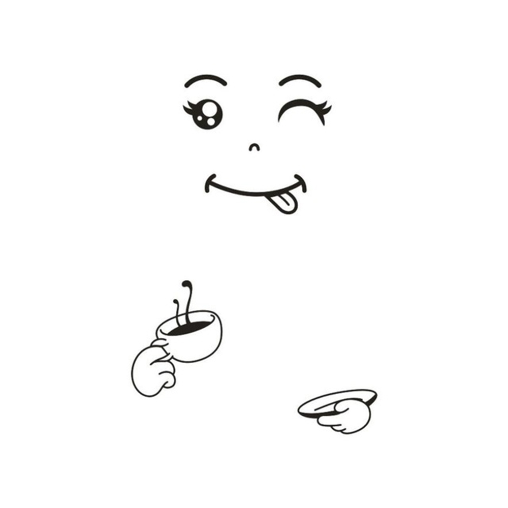 Cute Sticker Fridge | Happy Delicious Face Stickers | The Switch Stickers