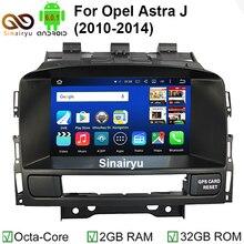 HD 1024*600 Octa Core 2 GB de RAM 6.0.1 Android de DVD Del Coche jugador Para Verano Vauxhall Opel Astra J GPS de Radio Navegación estéreo