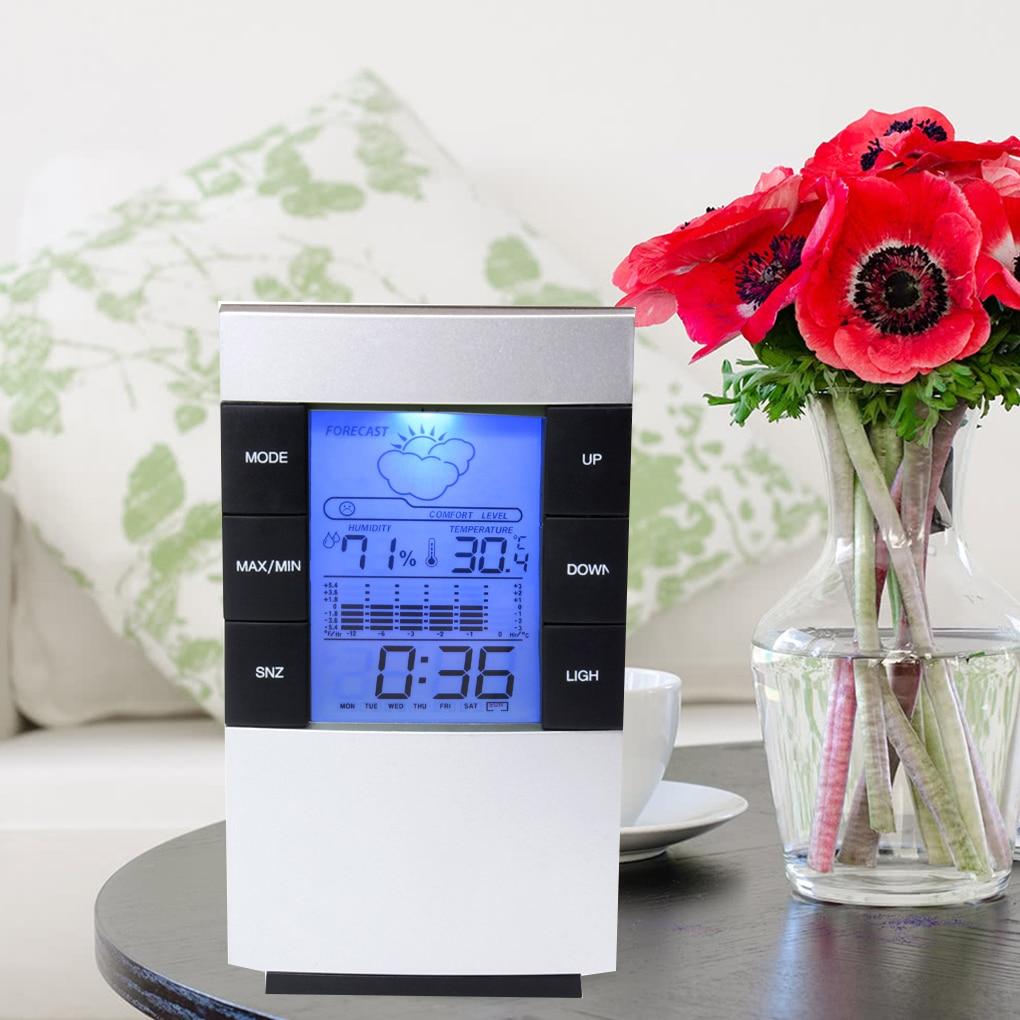 Messung Und Analyse Instrumente Werkzeuge Cx-506 Digital Lcd Thermometer Hygrometer Barometer Vorhersage Temperatur Feuchtigkeit Meter Hintergrundbeleuchtung Uhr Wetter Station Ruf Zuerst