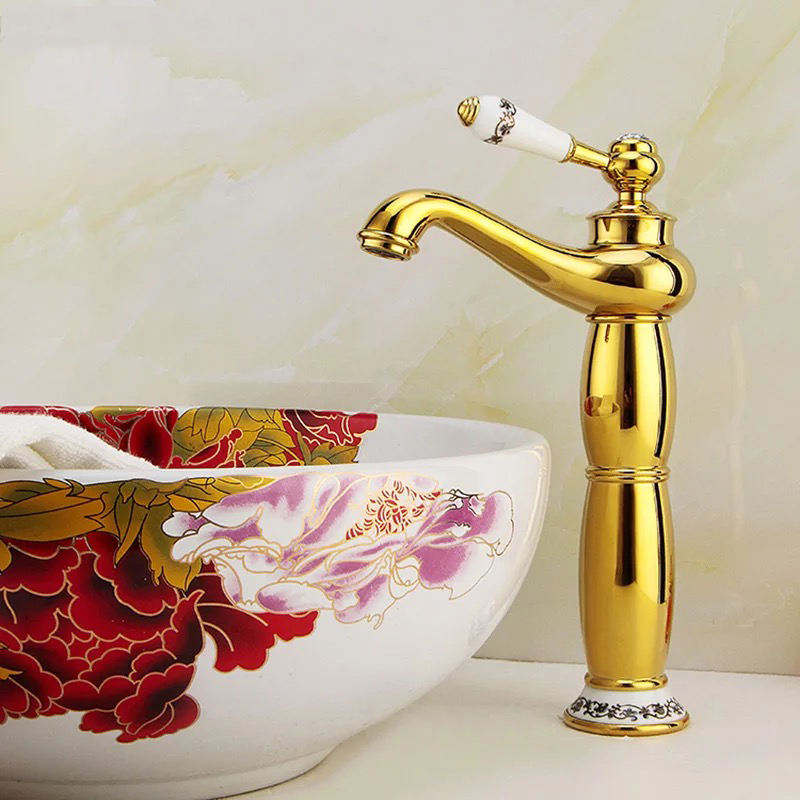 Gold Color High Quality Single Handle Bathroom Kithen FaucetGold Color High Quality Single Handle Bathroom Kithen Faucet