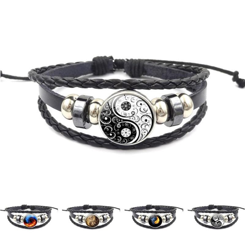 Aggressiv Hohe Qualität Mode Schwarz Anker Armband Männer Charme Armband Vintage Handgemachte Diy Stricken Perlen Armband Armband Großhandel