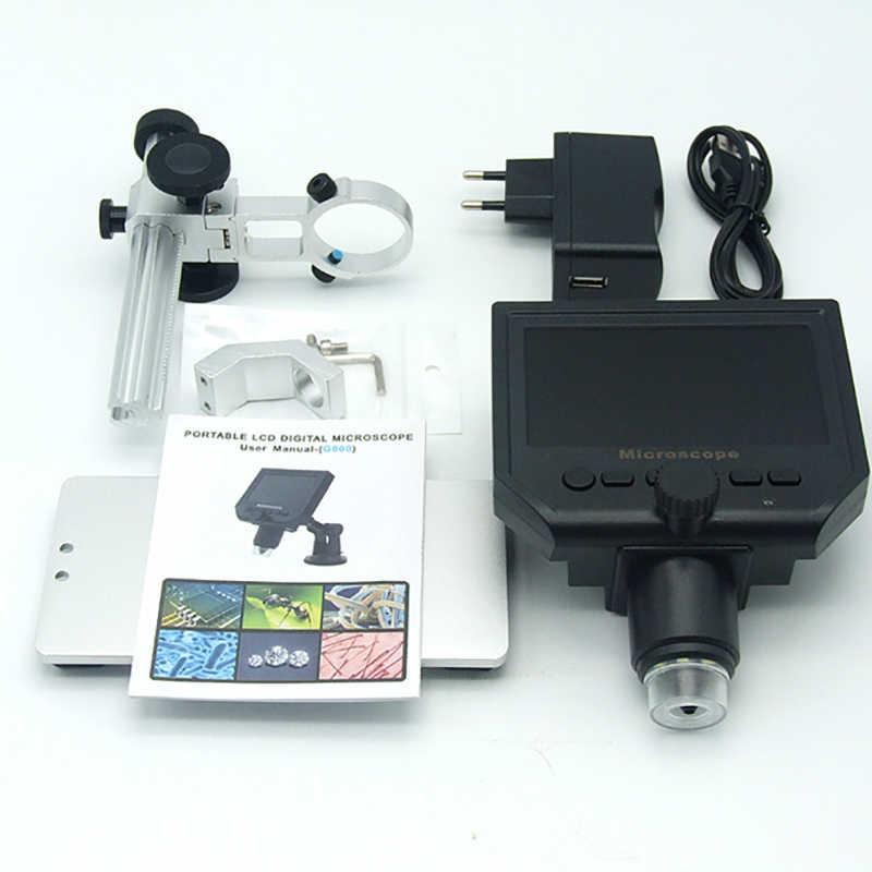 """1-600x 3.6MP USB цифровой электронный микроскоп портативный 4,3 """"HD ЖК-экран 8 светодиодный VGA микроскоп для ремонта материнской платы"""