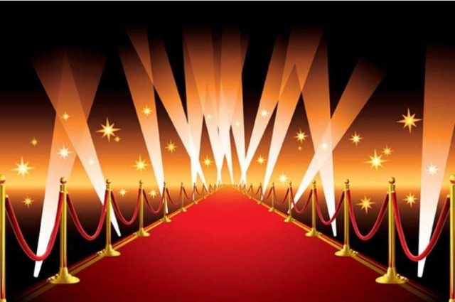 Celebrity Hollywood Gold Star Vip Red Carpet Scene