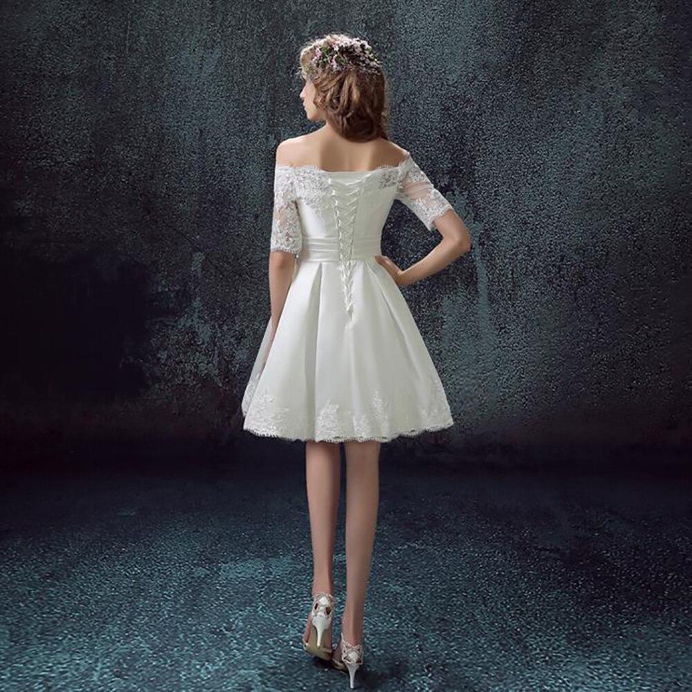 new arrival 2016 popular short white chiffon cocktail dresses half ...