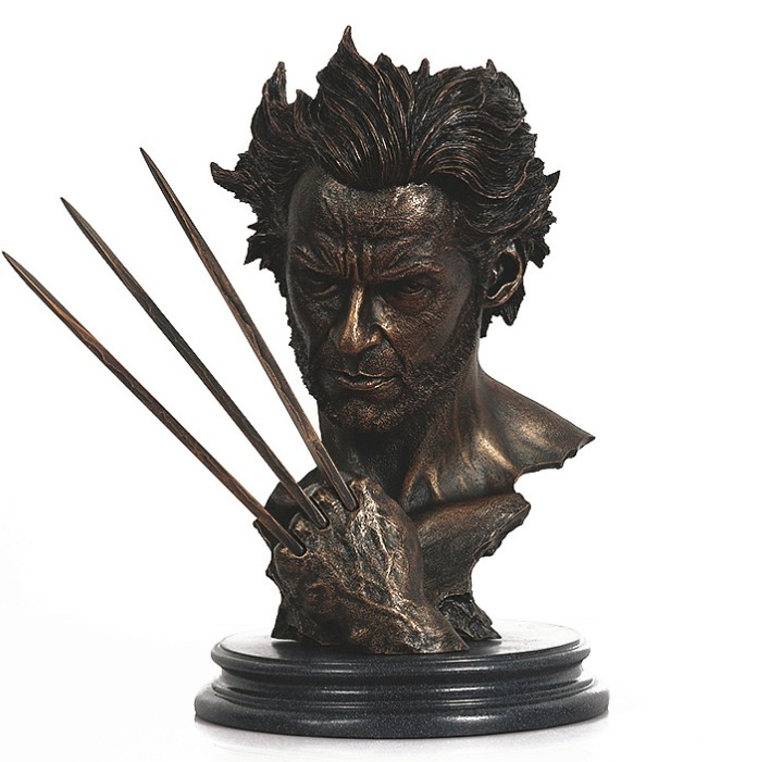 X-MAN Wolverine Superhero Logan Bust Model Resin Statue Hugh Jackman Figure