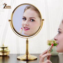 ZGRK ванное зеркало 1X/3X увеличение настенный отделка Аксессуары для ванной комнаты Регулируемый косметическое зеркало 2-лицевая сторона Ванная комната зеркала
