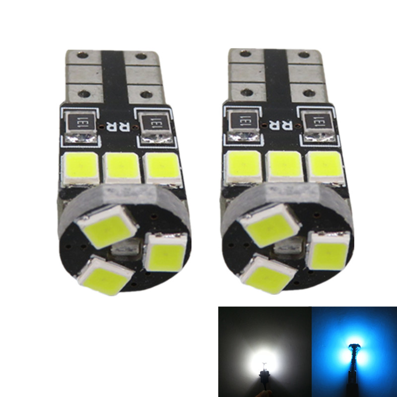 WLJH 10pcs 2835 SMD Lighting Led Car Interior Light Package Bulb for Toyota Tundra 2007 2008 2009 2010 2011 2012 White Ice Blue cawanerl car 5630 smd led kit package for toyota rav4 2006 2012 auto map dome courtesy cargo light white interior led bulb