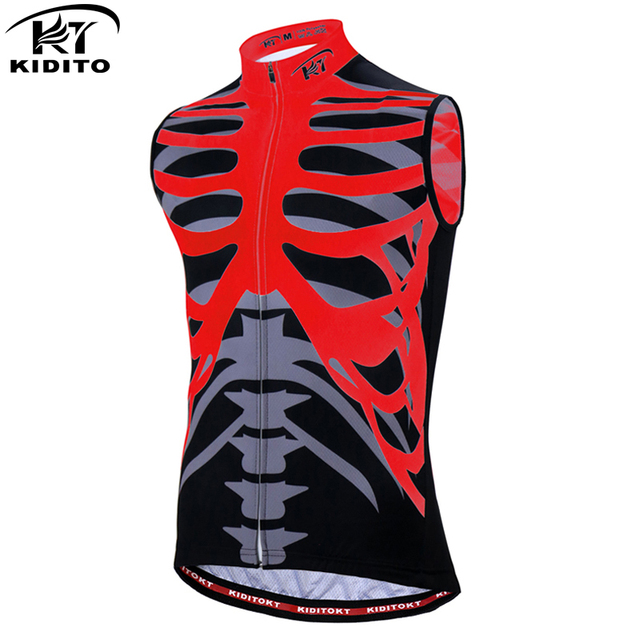 KIDITOKT 2018 Pro Cycling Vests Racing Bicycle Jersey Maillot Ropa Ciclismo Summer Sleeveless Cycling Jerseys Mans Bike Clothing