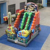cartoon inflatable bouncer inflatable slide,amusement slide playground