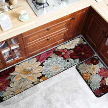 3D flower Abstract art Kitchen strip carpet non-slip rug plush printing floor mat bathroom door bedroom geometric
